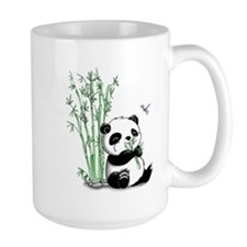Panda Eating Bamboo Ceramic Mugs