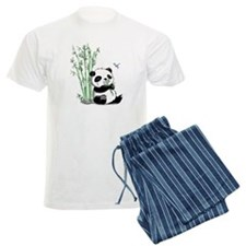 Panda Eating Bamboo Pajamas