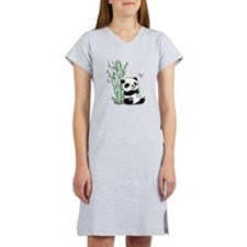 Panda Eating Bamboo Women's Nightshirt