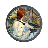 Toulouse Lautrec Bath Wall Clock