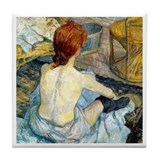 Toulouse Lautrec Bath Tile Coaster