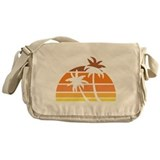 Vintage Beach Messenger Bag