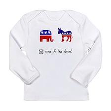 No Republicans or Democrats Long Sleeve Infant T-S