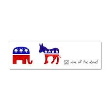 No Republicans or Democrats Car Magnet 10 x 3