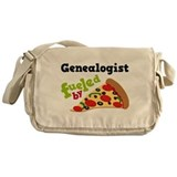 Genealogist Fueled By Pizza Messenger Bag