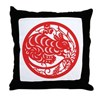 Rat Zodiac Throw Pillow