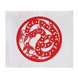 Snake Zodiac Throw Blanket