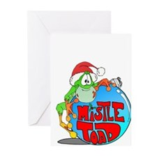 Mistle Toad Ornament Greeting Cards (Pk of 20)