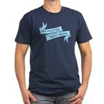 DINOS are Good Dogs Men's Fitted T-Shirt (dark)