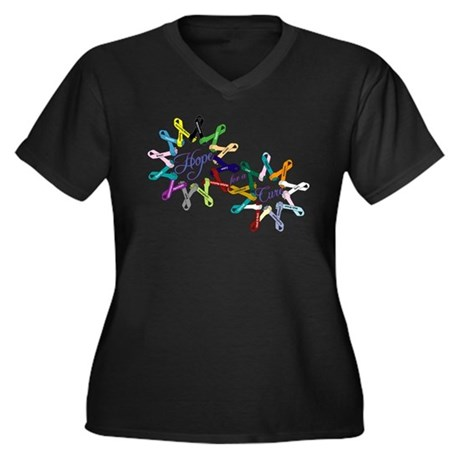 Cancer Ribbons_front Plus Size T-Shirt