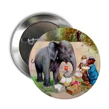 "Roosevelt Bears and An Elephant 2.25"" Button"