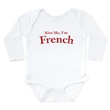 Kiss Me, I'm French Long Sleeve Infant Bodysuit