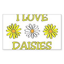 I Love Daisies - Daisy Flower Decal