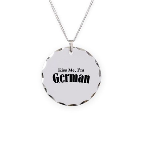 Kiss Me, I'm German Necklace Circle Charm