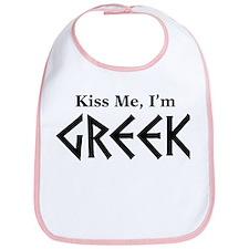 Kiss Me, I'm Greek Bib
