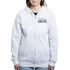 Kiss Me, I'm Greek Zip Hoody