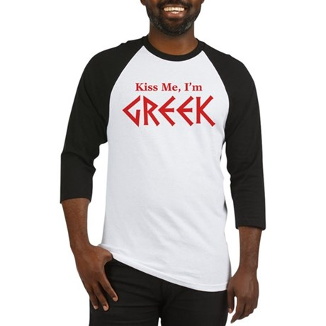 Kiss Me, I'm Greek Baseball Jersey