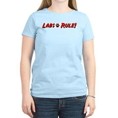 Labs Rule Women's Pink T-Shirt