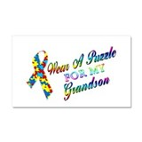 I Wear A Puzzle for my Grands Car Magnet 20 x 12