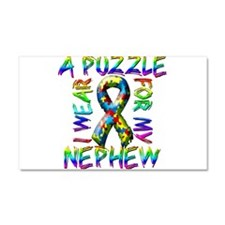 I Wear A Puzzle for my Nephew Car Magnet 20 x 12