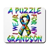 I Wear A Puzzle for my Grands Mousepad