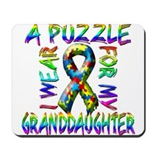 I Wear A Puzzle for my Grandd Mousepad