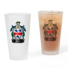 MILLER COAT OF ARMS Drinking Glass