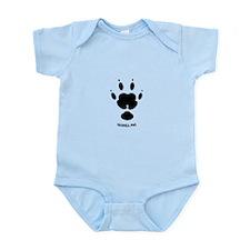 Guinea Pig Paw Print Infant Bodysuit