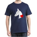Doberman with Heart Silhouett T-Shirt