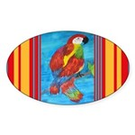 Pretty Parrot Sticker (Oval 10 pk)