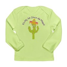 Cinco de Mayo Cactus Cute Long Sleeve Infant T-Shi