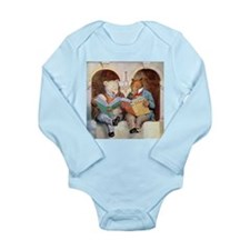 Roosevelt Bears Studying Long Sleeve Infant Bodysu