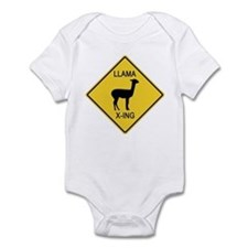 Llama Crossing Sign Infant Bodysuit
