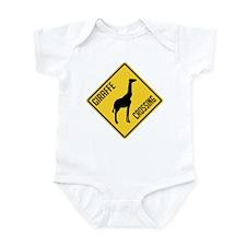 Giraffe Crossing Sign Infant Bodysuit