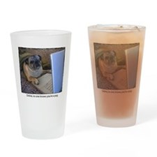 Online Pug Drinking Glass