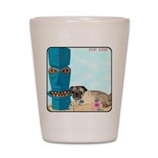 Pug Life Tiki Shot Glass