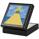 Masonic Eye, Pyamid & S&C Keepsake Box
