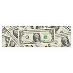 Dollar Bills Sticker (Bumper)