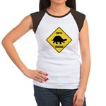 Turtle Crossing Sign Women's Cap Sleeve T-Shirt