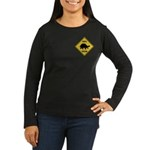 Turtle Crossing Sign Women's Long Sleeve Dark T-Sh