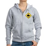 Turtle Crossing Sign Women's Zip Hoodie