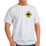 Turtle Crossing Sign Light T-Shirt