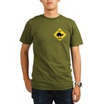Turtle Crossing Sign Organic Men's T-Shirt (dark)