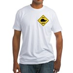 Turtle Crossing Sign Fitted T-Shirt