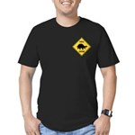 Turtle Crossing Sign Men's Fitted T-Shirt (dark)