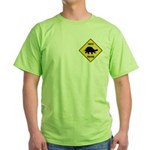 Turtle Crossing Sign Green T-Shirt