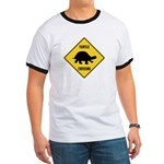 Turtle Crossing Sign Ringer T