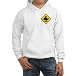 Turtle Crossing Sign Hooded Sweatshirt