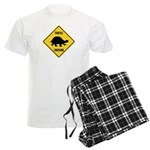 Turtle Crossing Sign Men's Light Pajamas