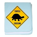 Turtle Crossing Sign baby blanket